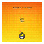 Yellow Orange Cartoon Bomb Invites