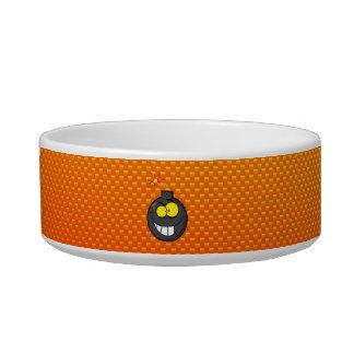 Yellow Orange Cartoon Bomb Pet Water Bowls