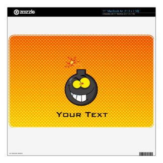 Yellow Orange Cartoon Bomb Skin For MacBook