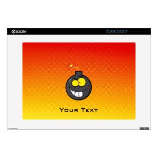 Yellow Orange Cartoon Bomb Laptop Decals