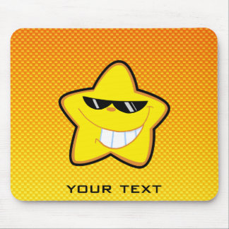 Yellow Orange Cartoon Star Mouse Pad