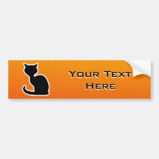 Yellow Orange Cat Car Bumper Sticker