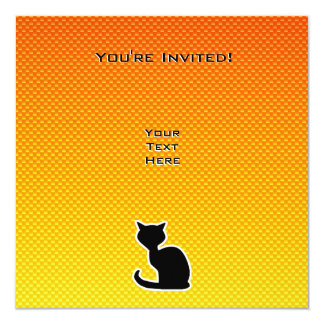 Yellow Orange Cat Card