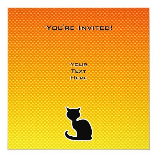 Yellow Orange Cat Card