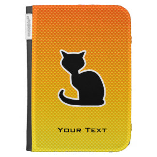 Yellow Orange Cat Case For Kindle