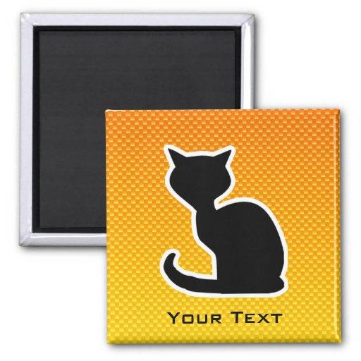 Yellow Orange Cat Fridge Magnet