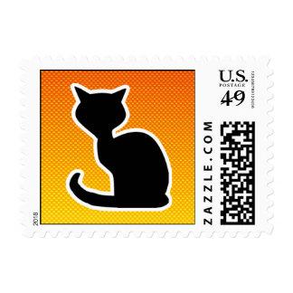 Yellow Orange Cat Postage