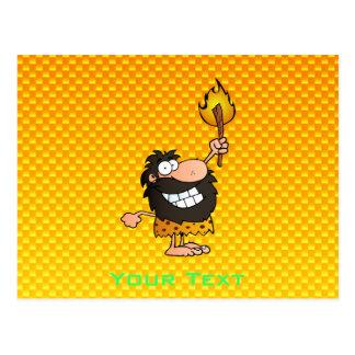 Yellow Orange Caveman Postcard