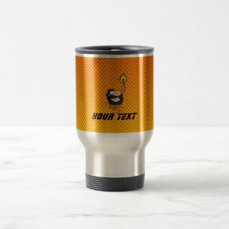 Yellow Orange Caveman Travel Mug