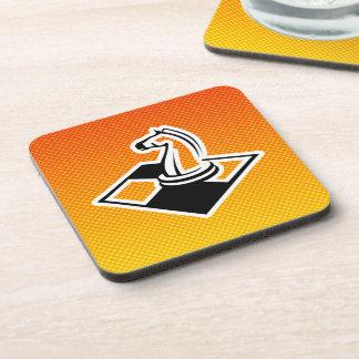 Yellow Orange Chess Drink Coaster