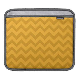 Yellow Orange Chevron Stripes Sleeves For iPads