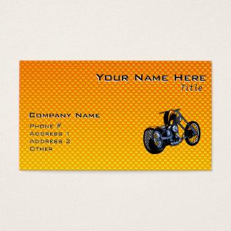 Yellow Orange Chopper Business Card