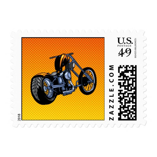 Yellow Orange Chopper Postage Stamp