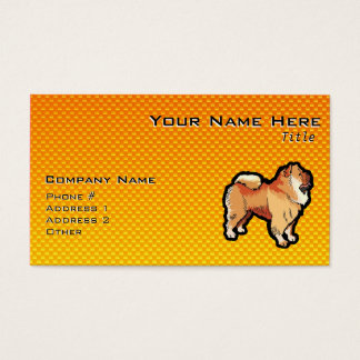 Yellow Orange Chow Chow Business Card