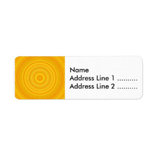 Yellow & Orange Circle/Ring Pattern Label