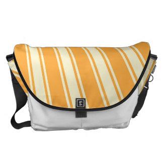 Yellow Orange Color Stripe Funky Pattern Messenger Bag