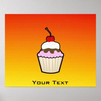 Yellow Orange Cupcake Posters