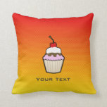 Yellow Orange Cupcake Throw Pillow