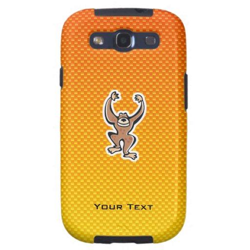 Yellow Orange Cute Monkey Galaxy S3 Cover