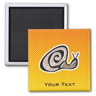 Yellow Orange Cute Snail Fridge Magnet
