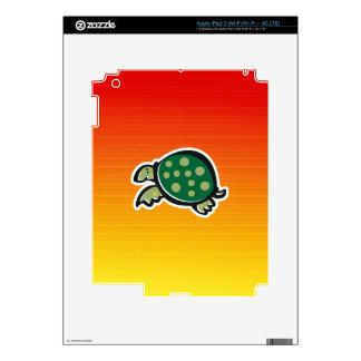 Yellow Orange Cute Turtle Decal For iPad 3