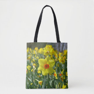 Yellow orange Daffodils 01.0Welcome spring! Tote Bag