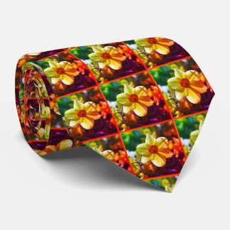 Yellow orange Daffodils 02.2.2.o Neck Tie