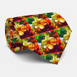 Yellow orange Daffodils 02.2.2o Neck Tie