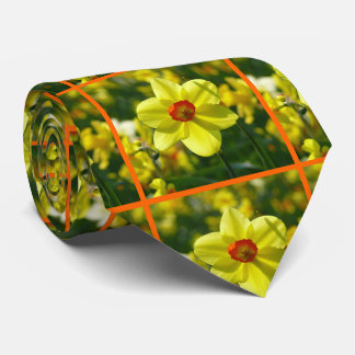 Yellow orange Daffodils 02.2o Neck Tie