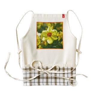 Yellow orange Daffodils 02.2o Zazzle HEART Apron