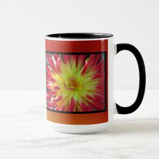 Yellow Orange Dahlia Flower Mug