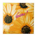 Yellow/Orange Daisies, thanx! - Ceramic Tile