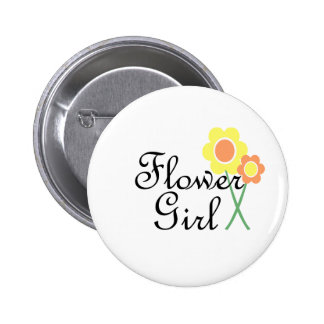 Yellow Orange Daisy Flower Girl Pins