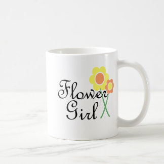 Yellow Orange Daisy Flower Girl Coffee Mug