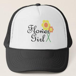 Yellow Orange Daisy Flower Girl Trucker Hat