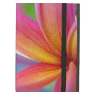 Yellow Orange Deep Pink Tropical Plumeria Flower iPad Air Cases