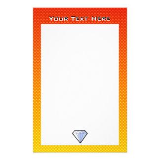 Yellow Orange Diamond Stationery
