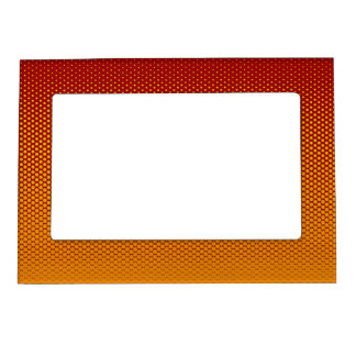 Yellow-Orange dots on ANY color custom frame Magnetic Photo Frames