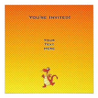 Yellow Orange Dragon Card