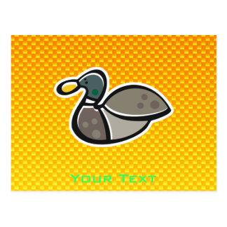 Yellow Orange Duck Postcard