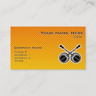 Yellow Orange Dueling Banjos Business Card