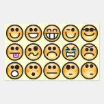 Yellow-Orange Emoticons Rectangle Sticker