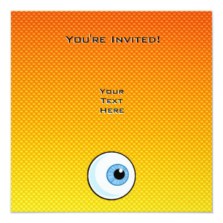Yellow Orange Eyeball Card