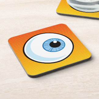 Yellow Orange Eyeball Drink Coaster