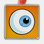 Yellow Orange Eyeball Ornaments