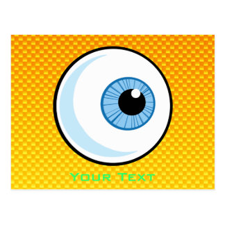Yellow Orange Eyeball Postcard