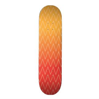 Yellow Orange Faded Gradient Chevron Pattern Skateboard Decks
