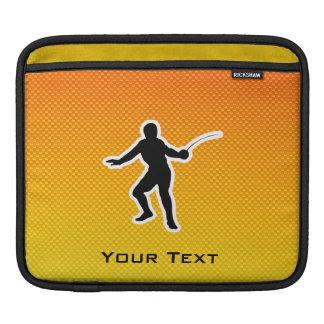 Yellow Orange Fencing iPad Sleeves