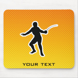 Yellow Orange Fencing Mouse Pad