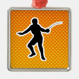 Yellow Orange Fencing Ornament